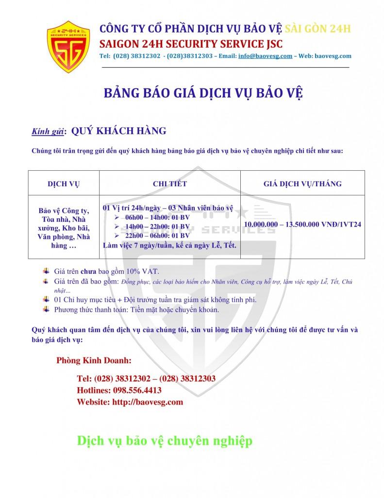 BANG BAO GIA 2017